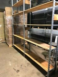 Backroom Shelving 12x 14and039 Lot 30 Used Metal Wood Store Fixtures Shelves Storage