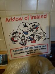Arklow Of Ireland Kiddies' Table Set Mug Plate Egg Cup Cereal Bowl New In Box