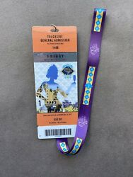 2017 Breeders Cup Del Mar Ticket Badge And Lanyard - Surf Meets The Turf