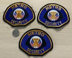 Lot Of 3 Metro Security Cosplay Costume Patches
