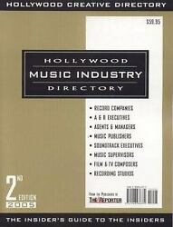 Hollywood Music Industry Directory Paperback By The Staff Of Hollywood Edited