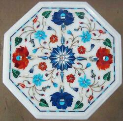 Hallway And Garden Decor Marble Inlay Table Top Floral Inlay Design Coffee Table
