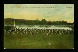 Freehold, New Jersey Nj Vintage Postcard Military Academy Firing Squad Rex Pc Co