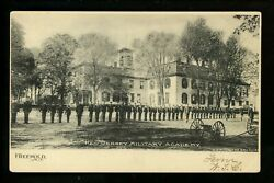 Freehold, New Jersey Nj Vintage Postcard Military Academy Soldiers Cannon