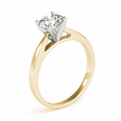 1.01 Ct D/si2 Natural Diamond Solitaire Engagement Ring Round 14k Yellow Gold