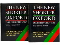 The New Shorter Oxford English Dictionary, Thumb Index Edition, In Two Volumes