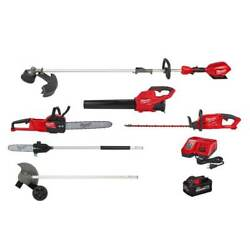 String Trimmer/blower Combo Kit With Attachments Chainsaw Hedge Edger Pole Saw