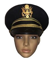Us Army Wwii Officers Dress Hat Cap 76th Mp Brigade Sz 7 3/8 By Bancroft