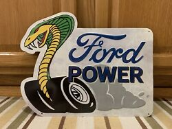 Ford Metal Sign Shelby Cobra Mustang Garage Wall Decor Parts Vintage Style