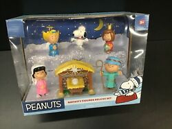 New Sealed Peanuts Nativity Figures Deluxe 7 Piece Set Charlie Brown Snoopy