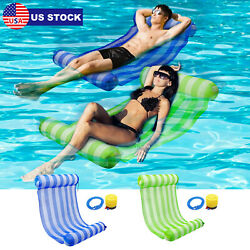 Inflatable Swimming Pool Water Hammock Floating Pool Beach Summer Lounge Bed