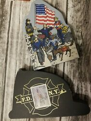 Used American Heros Ny 2001 Hometowne Collectibles And Fdny Cats Meow Wood Block
