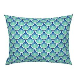 Citrus Scale Scallop Fruit Fruity Ocean Circle Pillow Sham By Roostery