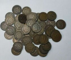 Roll Of 1900and039s Indian Head Cents Vf Condition Estate Nice Mixed Date Roll 1c