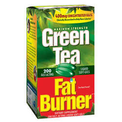 Applied Nutrition Green Tea Fat Burner 200 Soft-gels 400mg Concentrated Egcg