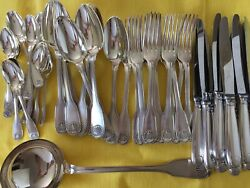 Vendome Louis Xv Christofle Dinner Set Forks Spoons Knives Silver Plated