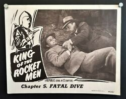 King Of The Rocket Men Original Lobby Card - Fatal Dive 1949 Hollywood Posters