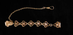 Antique 1880s Gold Gf Ladies Pocket Watch Chain With Fancy Fob And Seal Stunning