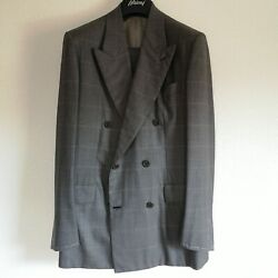 Nwt 10,200usd Brioni Super 150's Wool Suit Size 48 38us Double-breasted