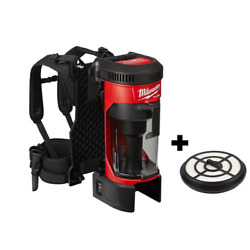 M18 Fuel 18-volt Lithium-ion Brushless 1 Gal. Cordless 3-in-1 Backpack Vacuum Wi