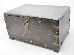 Antique Wooden Shopkeeper's Cash Money Box Original Old Hand Crafted