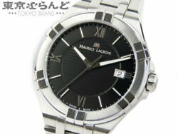Maurice Lacroix Ai1008-ss0002-330-1 Used Watch Qz Battery-powered Ss Blk Dial Ec