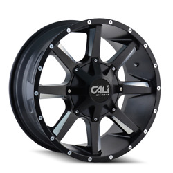 6x135/6x139.7 Wheels 22 Inch 4 Rims Busted 9100 Cali Off-road 22x12 -44mm