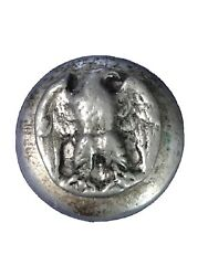Antique Pewter Droop Eagle Button Confederate Army Or Militia Officers Coat 28mm