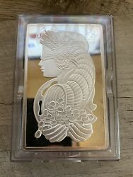 Read 5 Ounce Oz Pamp Suisse Fortuna Silver Bar - Certificate Number B001658