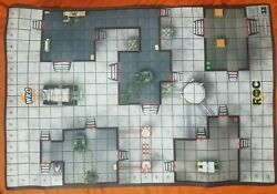 Heroclix Roc Research Outpost Outdoor Premium Neoprene Map, Free Shipping