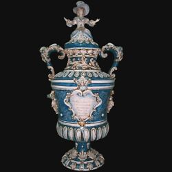 Vase Monumental In Series Limited In Ceramic Art Of Caltagirone By Hand