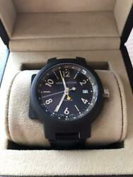 Louis Vuitton Tambour Gmt Swiss Made Stainless Automatic Winding Men's Watch