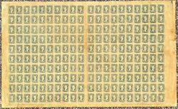 Confederate States 11 10andcent Jefferson Davis Complete Sheet Of 200 Scott 5515