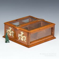 An Edwardian Oak And Glass Counter-top Display Cabinet.9909.