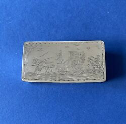 Rare Novelty Solid Silver And039gretna Greenand039 Snuff Box - 1930 - Pairpoint Brothers