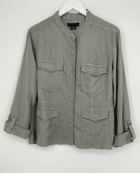 Sanctuary Womens Safari Jacket In Scout Green Size L Large Nwt