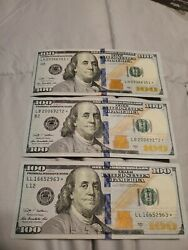 3 2009 100 Federal Reserve Star Note Uncirculated