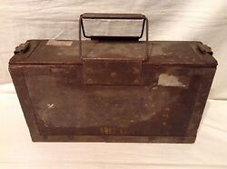 Vintage Wooden Military Ammo Box / Army Ammunition Box Timber 1961, Collectable