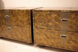 Pair Modern Henredon Commodes/dressers/chest Of Drawers