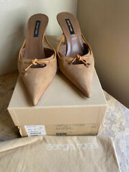 Preowned Sergio Rossi Pelle Royal Sutherland Pointed-toe Mule Womenandrsquos Size 37.5