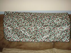 Longaberger Traditional Hollyimperial Stripe 36. Reversible Fabric Square