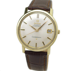 Omega Constellation 168.010 Cap Gold Case Auto Vintage Watch 1968and039s Overhauled