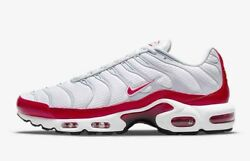Nike Air Max Plus White Red Grey Black Dm8332-100 Men's Sizes 8-13 New With Tags