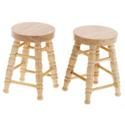 1pc 1/12 Dollhouse Miniature Wooden Stool Chair Furniture Accessories Decoray_dr