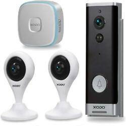 Xodo Pk2 Smart Home Security Kit With Wi-fi Cameras,doorbell,wireless Chime,2 Wa