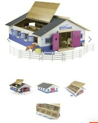 Breyer Horses New 59215 Stablemate Farm Deluxe Wood Stable Barn Playset