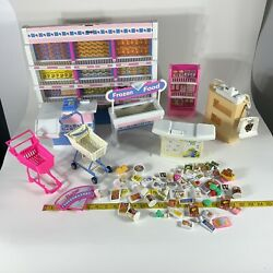 Vintage Barbie Doll Grocery Store Super Market Playset Lot As Is For Restoration