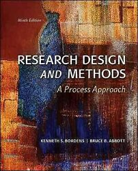 Research Design And Methods A Process Approach Hardcover By Bordens Kenne...