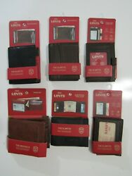 Levis Mens RFID Wallets Card Case Max Duofold Bifold Bill Clip Nwt $24.99