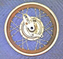 Rupp Minibike Front Wheel Assembly With Brake And Axle  Mini Bike Roadster